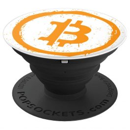 Bitcoin Spray Paint – PopSockets Grip and Stand for Phones and Tablets
